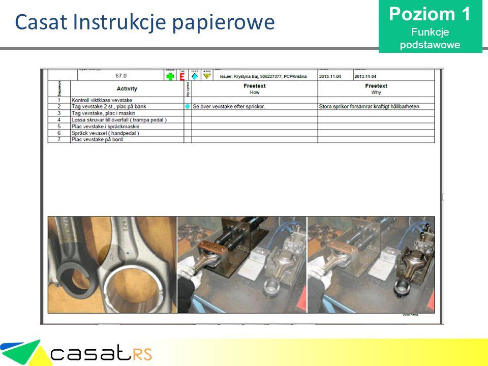 Casat Instrukcje papierowe Poziom 1 Funkcje podstawowe