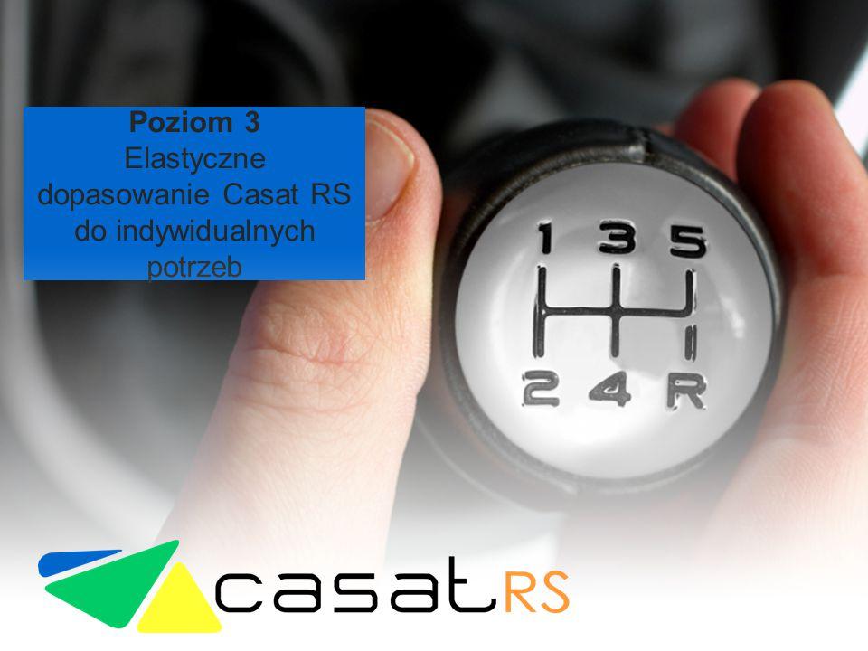 Poziom 3 Elastyczne dopasowanie Casat RS do indywidualnych potrzeb