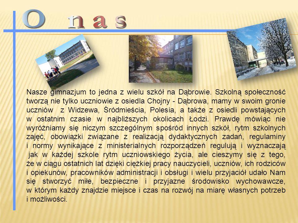Nasze gimnazjum to jedna z wielu szkół na Dąbrowie.