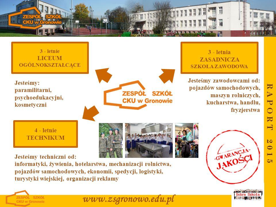R A P O R T 2 0 1 4 www.zsgronowo.edu.pl LICEUM