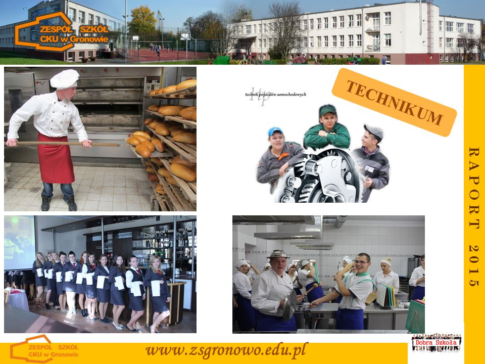 R A P O R T 2 0 1 5 www.zsgronowo.edu.pl TECHNIKUM