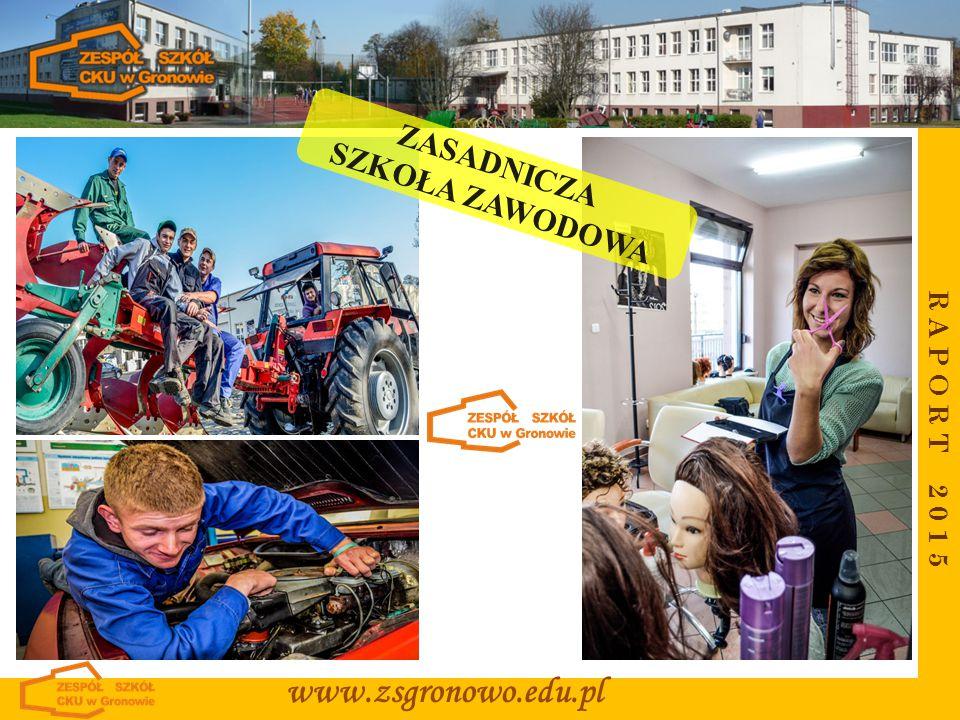 R A P O R T 2 0 1 5 www.zsgronowo.edu.pl ZASADNICZA SZKOŁA ZAWODOWA