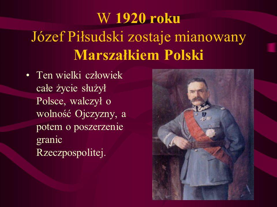 Z upływem lat Polska staje się coraz większa i silniejsza... 19191920 1921 Odzyskuje też dostęp do morza...