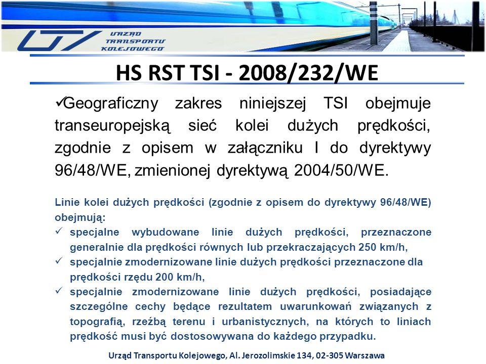 Geograficzny zakres niniejszej TSI obejmuje transeuropejską sieć kolei dużych prędkości, zgodnie z opisem w załączniku I do dyrektywy 96/48/WE, zmieni