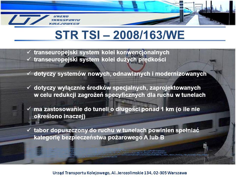 Urząd Transportu Kolejowego, Al. Jerozolimskie 134, 02-305 Warszawa STR TSI – 2008/163/WE transeuropejski system kolei konwencjonalnych transeuropejsk