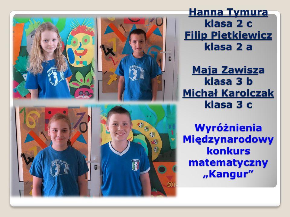 Karolina Pawliszak klasa 6c Laureatka Kuratoryjny konkurs polonistyczny organizowany przez Lubelskiego Kuratora Oświaty