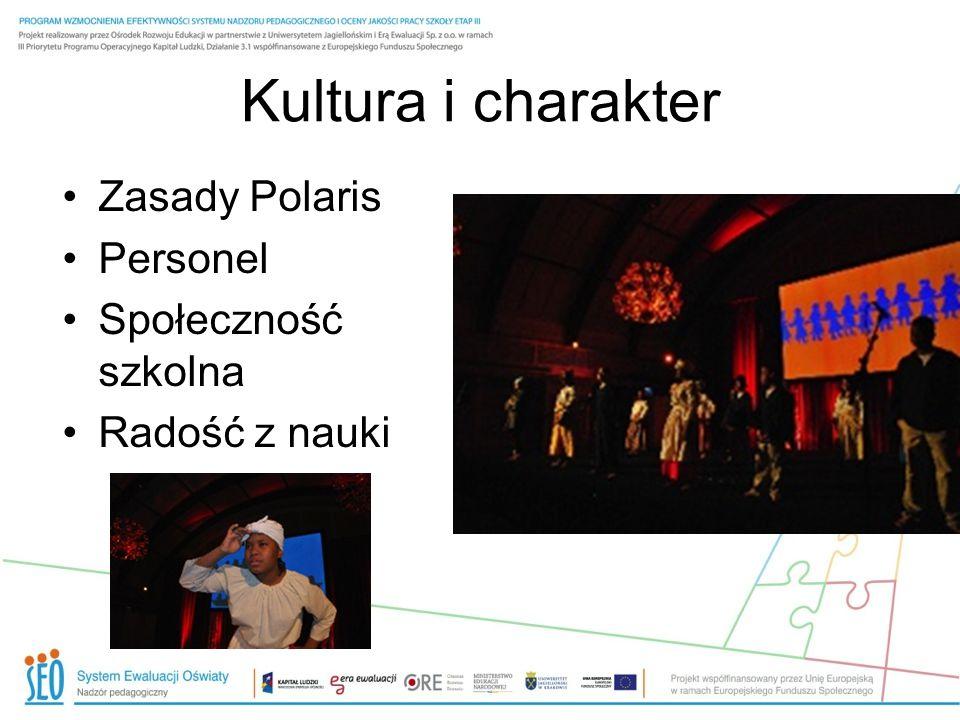 Kultura i charakter Zasady Polaris Personel Społeczność szkolna Radość z nauki
