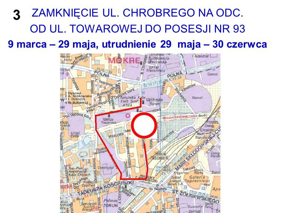 Zamknięcie ul.Chrobrego – objazd linii nr 33 Od 4.03.2015r.