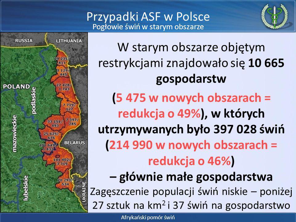 W obszarze objętym restrykcjami znajduje się ok.12 630 dzików.