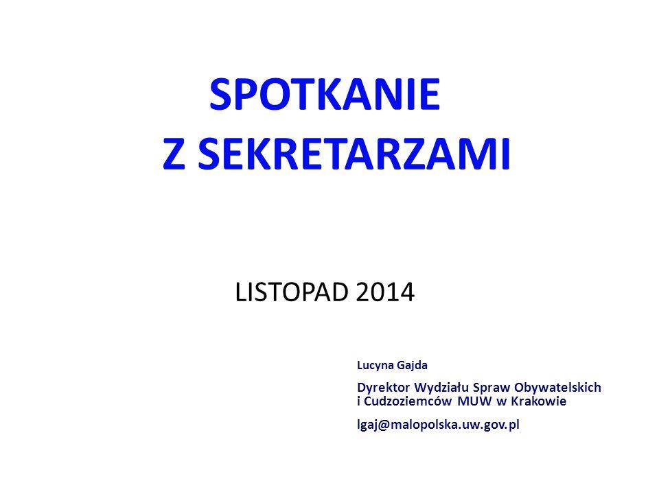 Nowe ustawy  Ustawa z dnia 24 września 2010 r.o ewidencji ludności (Dz.