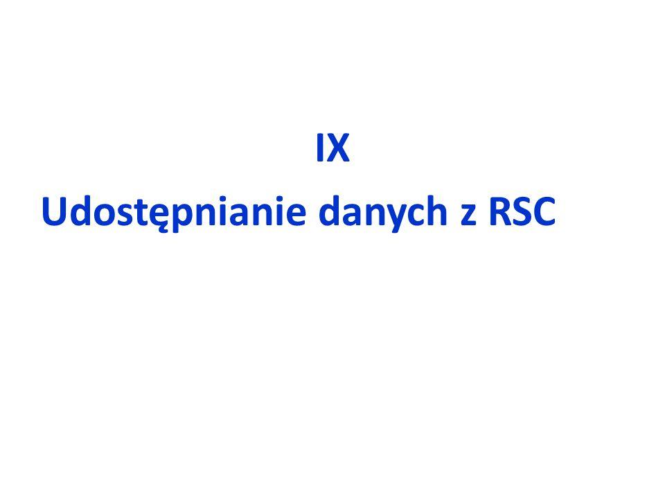 IX Udostępnianie danych z RSC