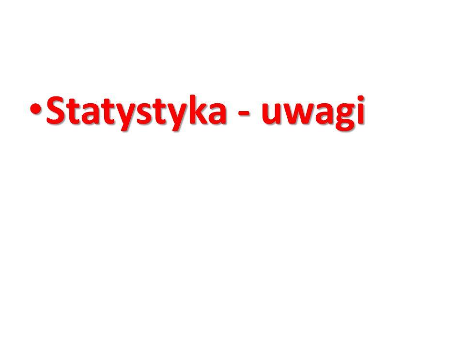 Statystyka - uwagi Statystyka - uwagi
