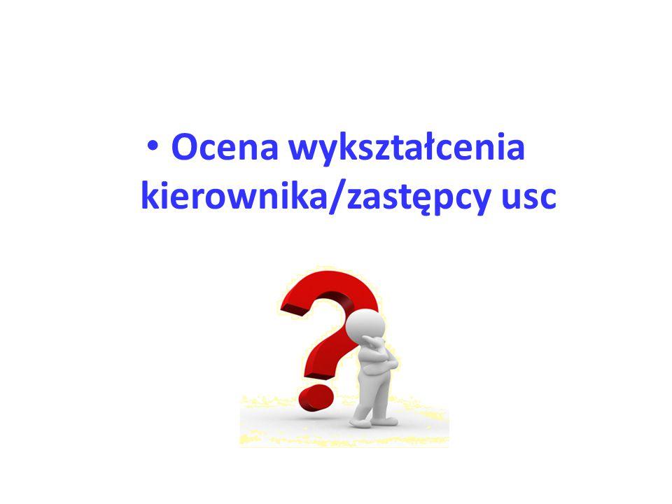Ocena wykształcenia kierownika/zastępcy usc