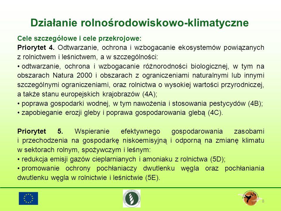 8 Cele szczegółowe i cele przekrojowe: Priorytet 4. Odtwarzanie, ochrona i wzbogacanie ekosystemów powiązanych z rolnictwem i leśnictwem, a w szczegól