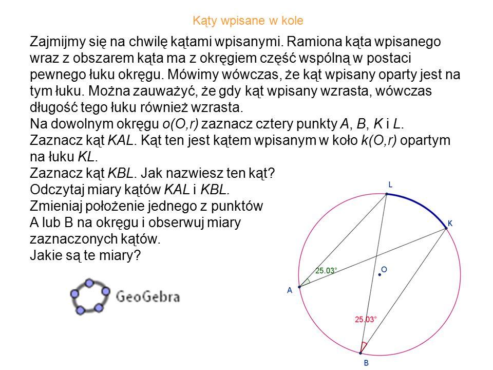 26 Wykreśl okrąg o środku S i jego cięciwę BC.
