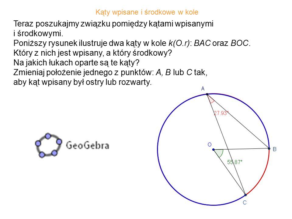29 Miara kąta zawartego pomiędzy styczną do okręgu, poprowadzoną przez wierzchołek trójkąta wpisanego w koło, a bokiem tego trójkąta jest równa mierze kąta wewnętrznego trójkąta, leżącego naprzeciw tego boku.