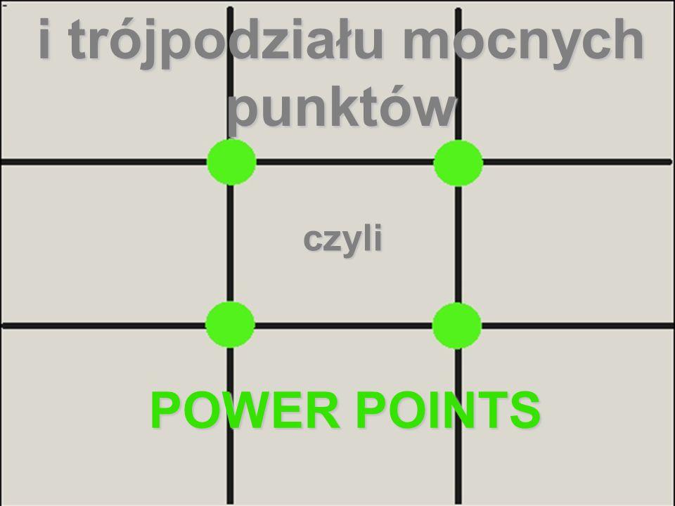 i trójpodziału mocnych punktów czyli POWER POINTS