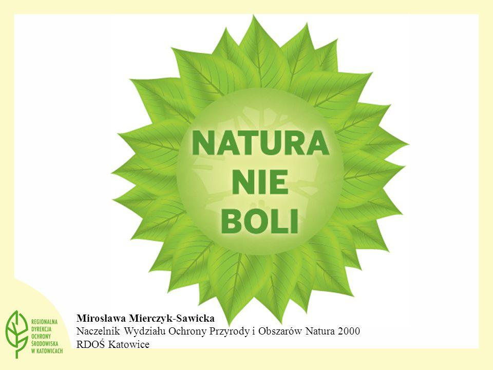 Mirosława Mierczyk-Sawicka Naczelnik Wydziału Ochrony Przyrody i Obszarów Natura 2000 RDOŚ Katowice
