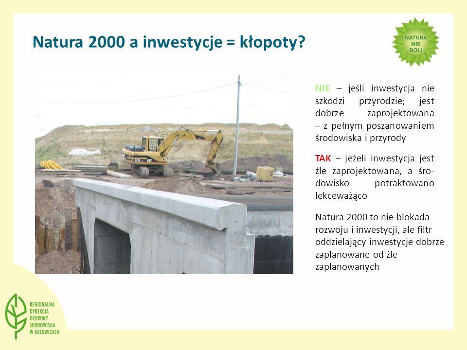 Natura 2000 a inwestycje = kłopoty.