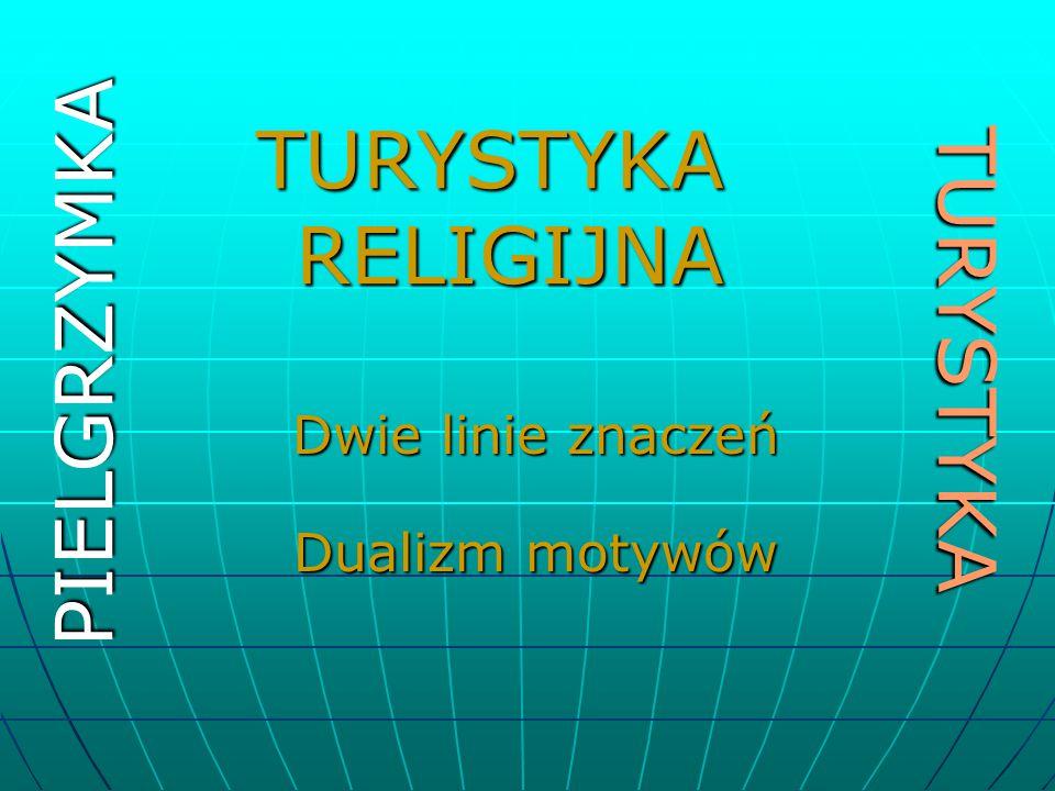 TURYSTYKAPIELGRZYMKA Dwie linie znaczeń Dualizm motywów