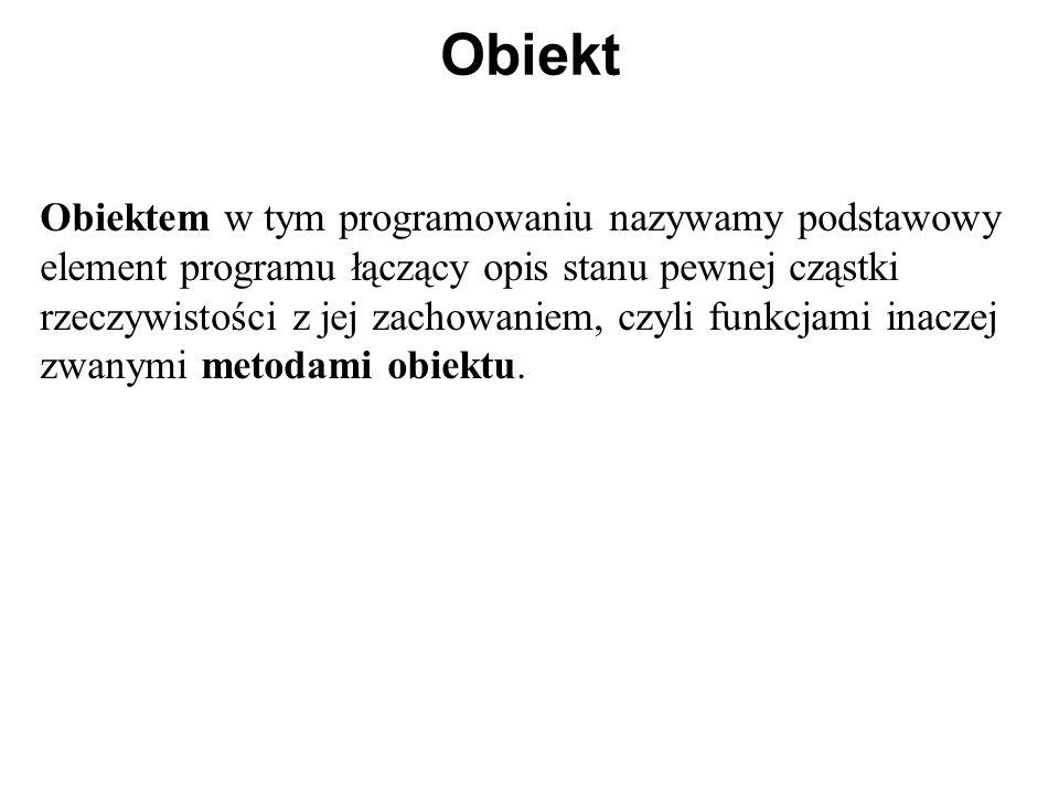 Przykład programu 1 #include using namespace std; class ulamek { int licznik; int mianownik; public: int zapisz (int l, int m); void wypisz () { cout <<licznik<< / <<mianownik; } };