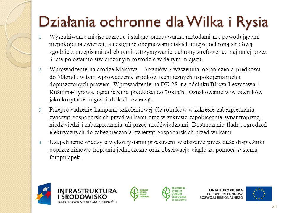 Działania ochronne dla Wilka i Rysia 1.