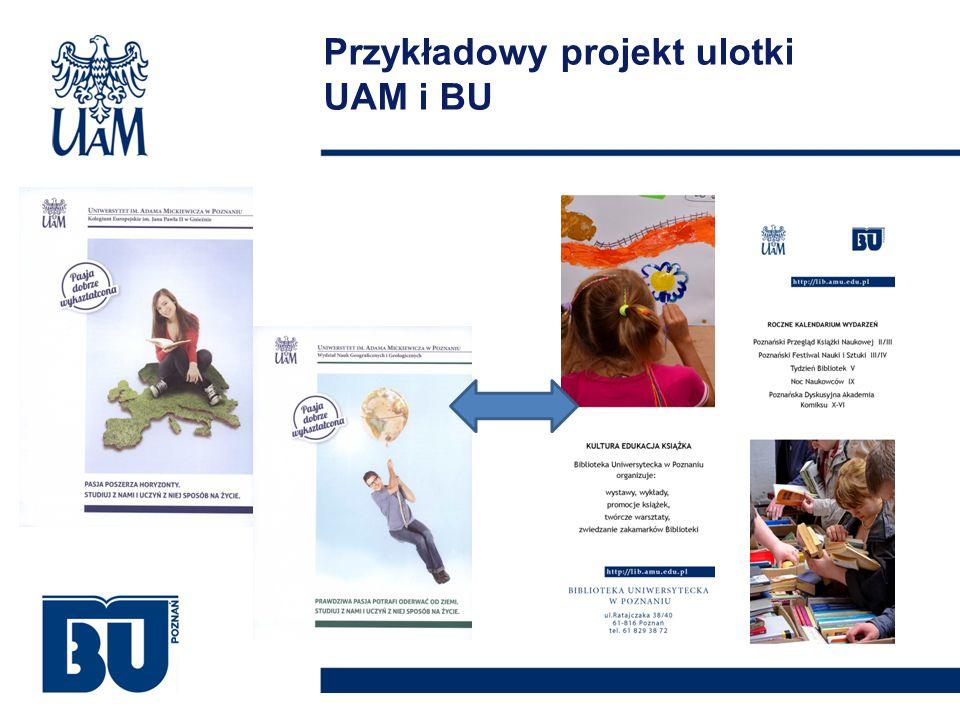 Przykładowy projekt ulotki UAM i BU