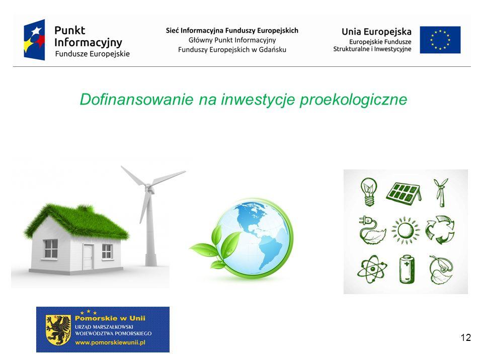 12 Dofinansowanie na inwestycje proekologiczne