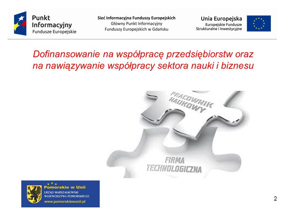 2 Dofinansowanie na współpracę przedsiębiorstw oraz na nawiązywanie współpracy sektora nauki i biznesu