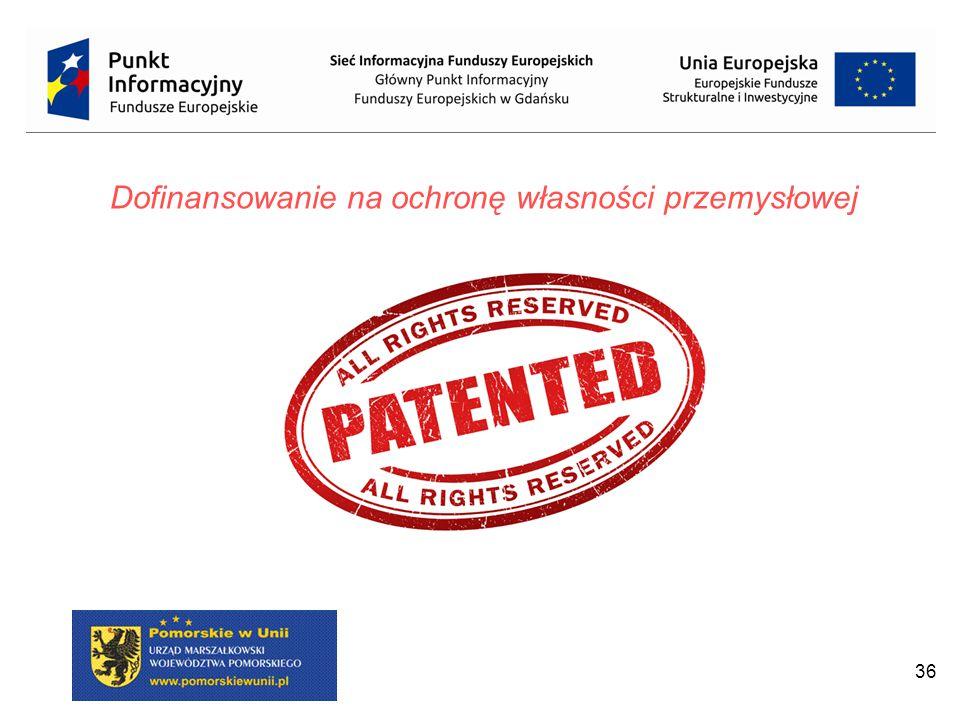 36 Dofinansowanie na ochronę własności przemysłowej
