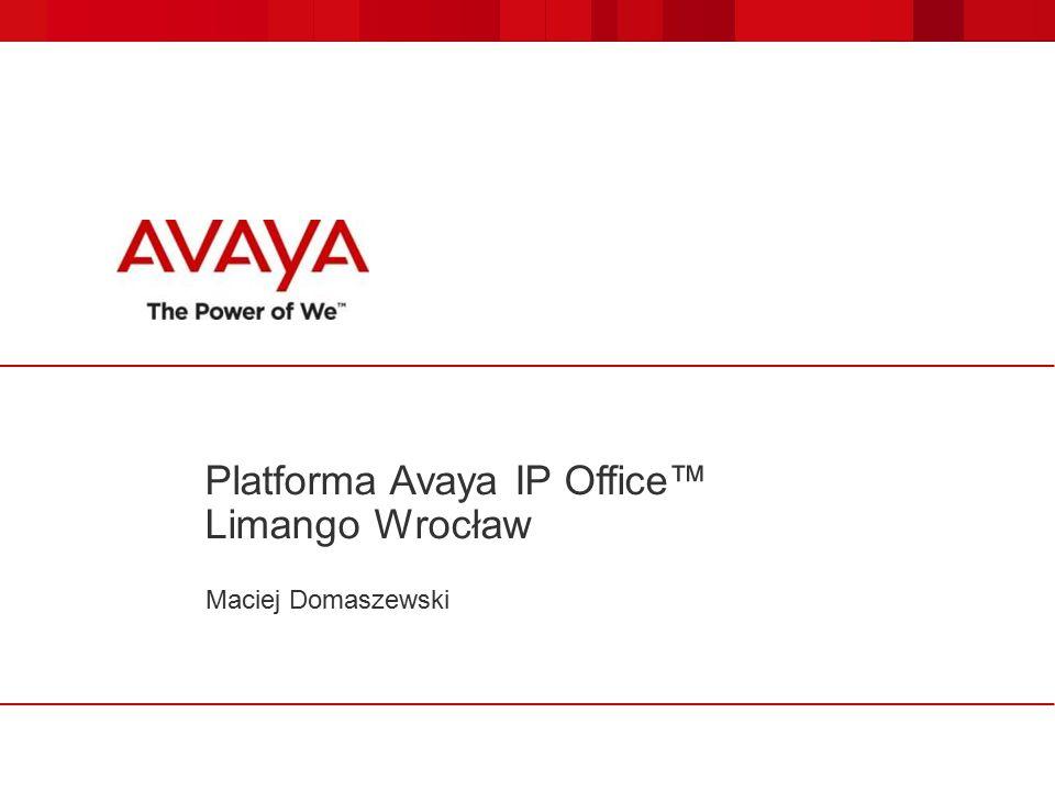Maciej Domaszewski Platforma Avaya IP Office™ Limango Wrocław
