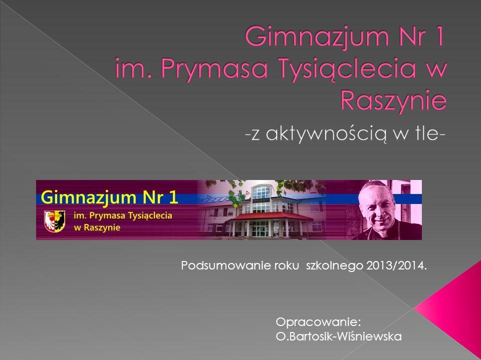 Podsumowanie roku szkolnego 2013/2014. Opracowanie: O.Bartosik-Wiśniewska