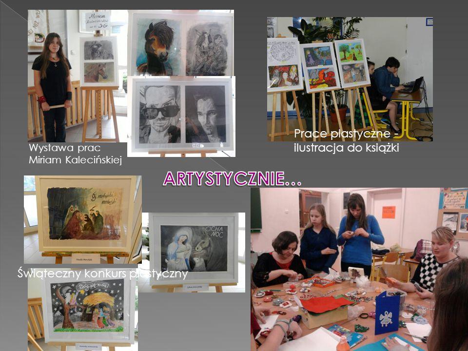 Wystawa prac Miriam Kalecińskiej Prace plastyczne - ilustracja do książki Świąteczny konkurs plastyczny