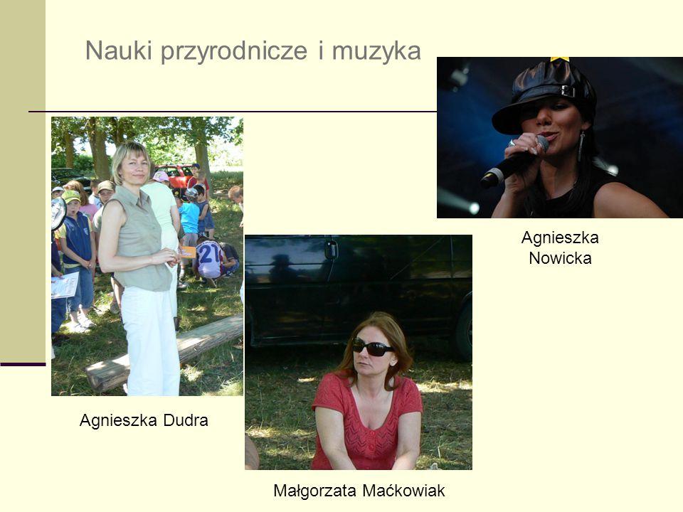Nauki przyrodnicze i muzyka Agnieszka Dudra Małgorzata Maćkowiak Agnieszka Nowicka