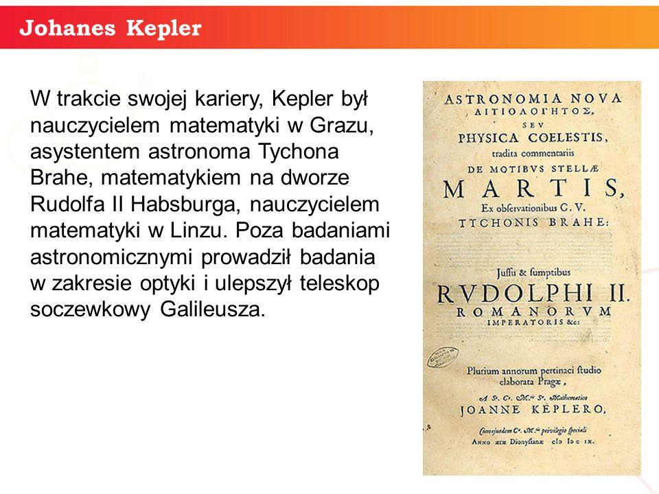 informatyka + 4 Johanes Kepler W trakcie swojej kariery, Kepler był nauczycielem matematyki w Grazu, asystentem astronoma Tychona Brahe, matematykiem