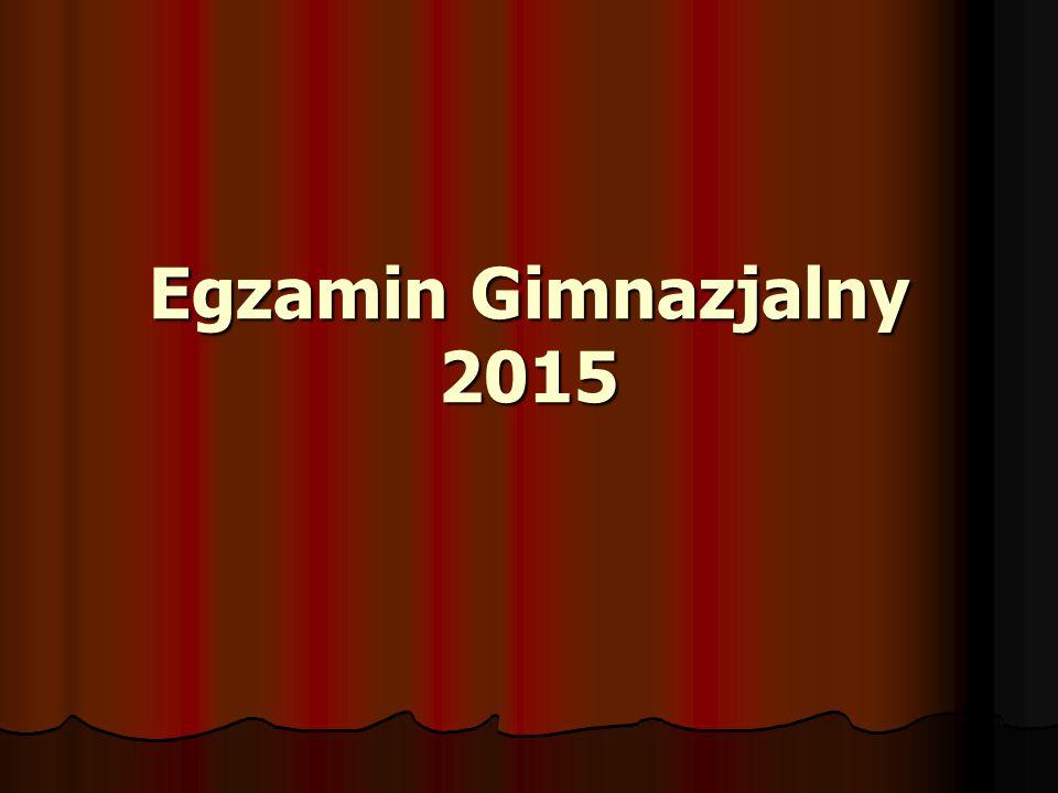 Egzamin Gimnazjalny 2015