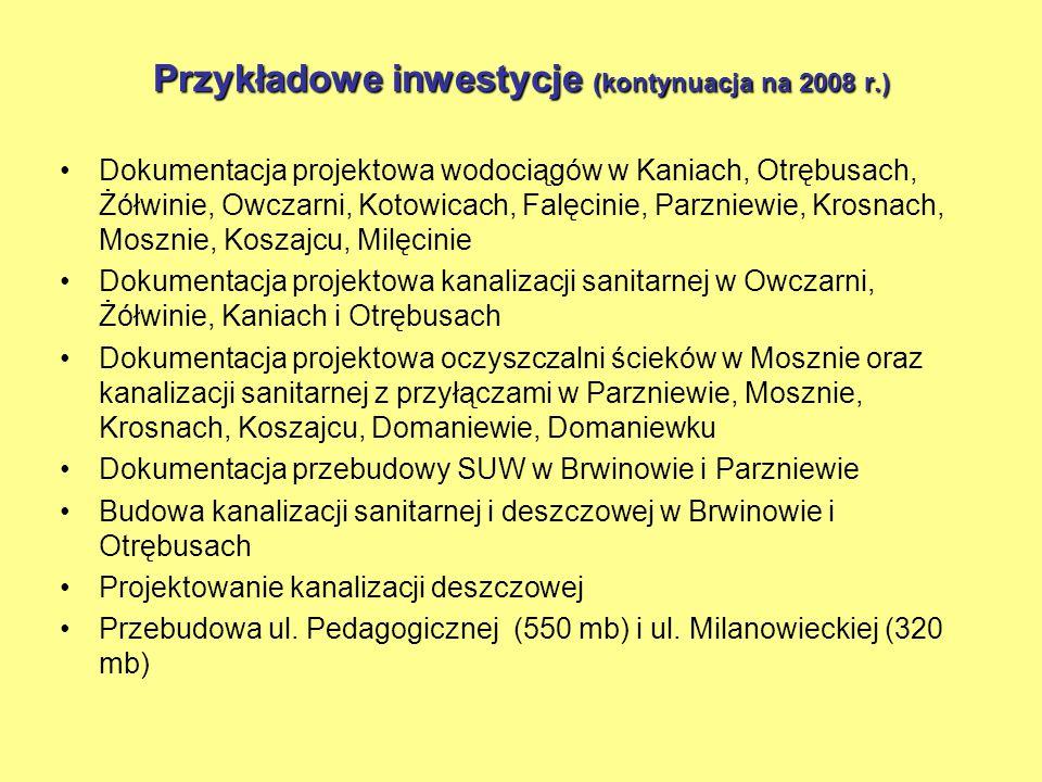 Przykładowe inwestycje wykonane w 2007 r.