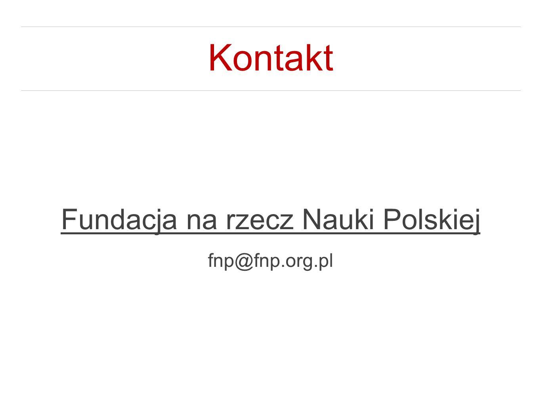 Kontakt Fundacja na rzecz Nauki Polskiej fnp@fnp.org.pl
