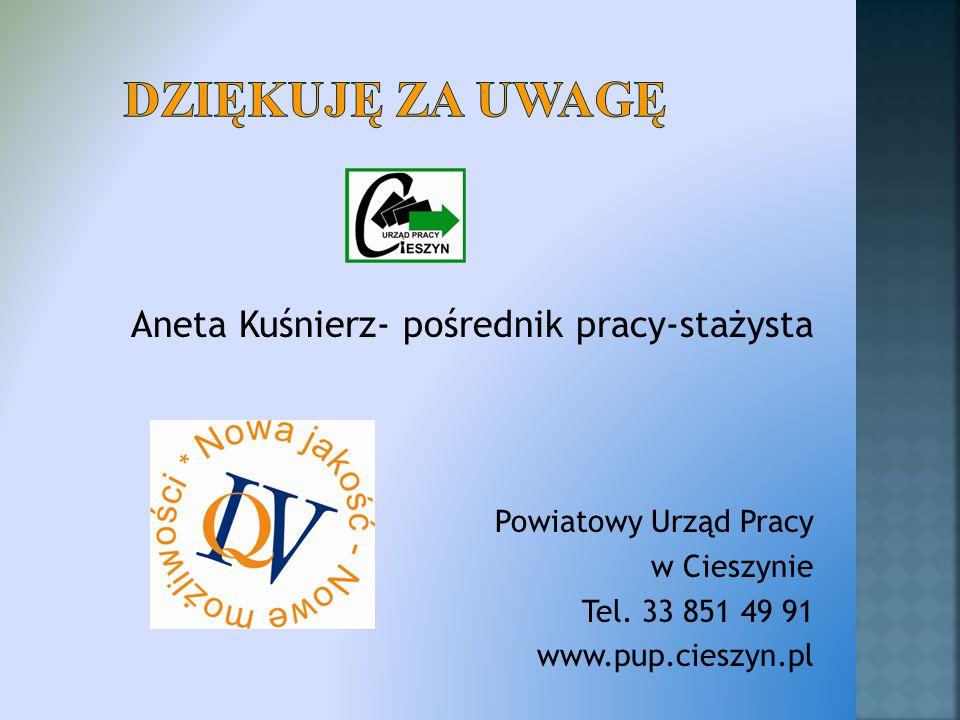 Aneta Kuśnierz- pośrednik pracy-stażysta Powiatowy Urząd Pracy w Cieszynie Tel.
