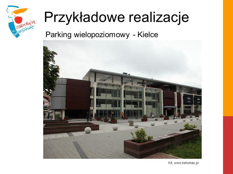 Przykładowe realizacje Projekt hali targowej z parkingiem - Ostrołęka fot.