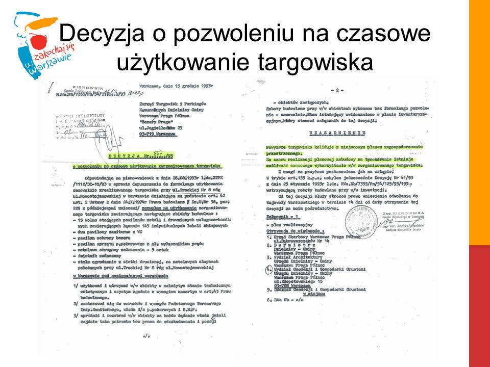 """Nowa lokalizacja W związku z budową stacji metra """"Trocka istniejące targowisko musi zmienić swoją lokalizację do końca 2015 r."""