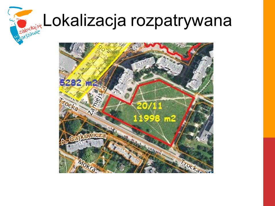 """Działka 20/10 z obrębu 4-10-03 objęta jest powództwem sądowym RSM """"Praga o ustanowienie prawa użytkowania wieczystego."""