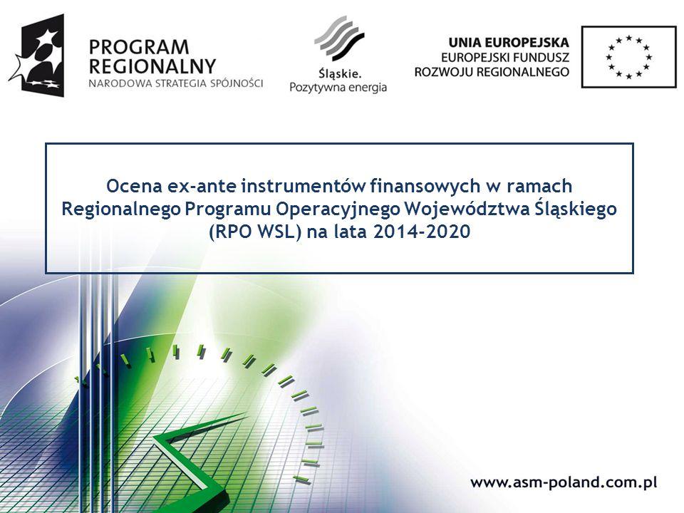 Cel badania Ocena adekwatności instrumentów finansowych zakładanych w ramach Regionalnego Programu Operacyjnego Województwa Śląskiego na lata 2014- 2020