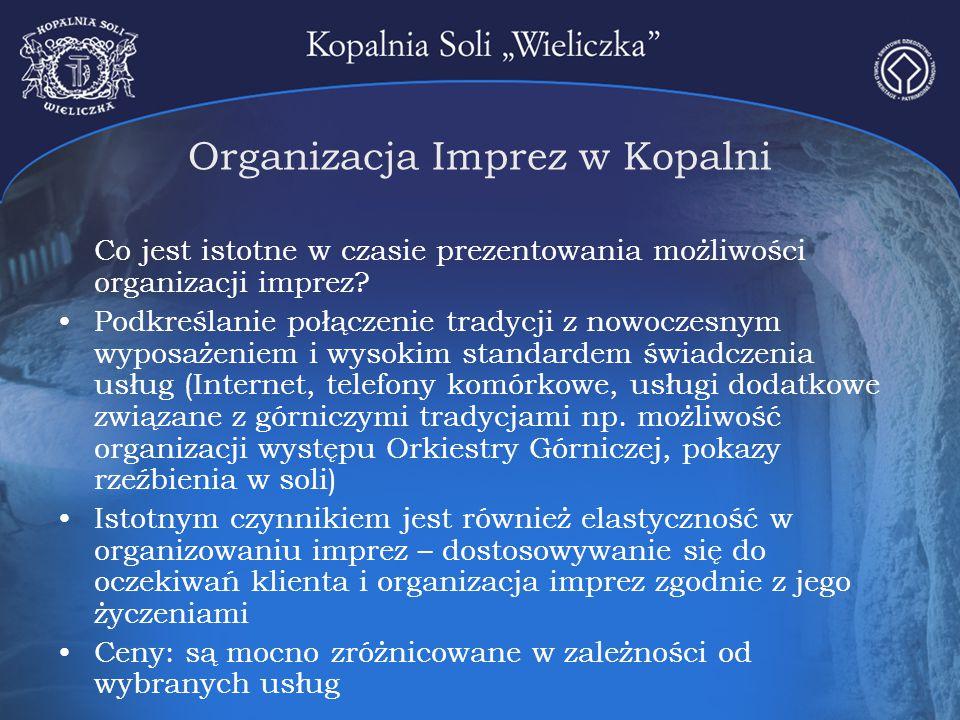 Organizacja Imprez w Kopalni Co jest istotne w czasie prezentowania możliwości organizacji imprez? Podkreślanie połączenie tradycji z nowoczesnym wypo