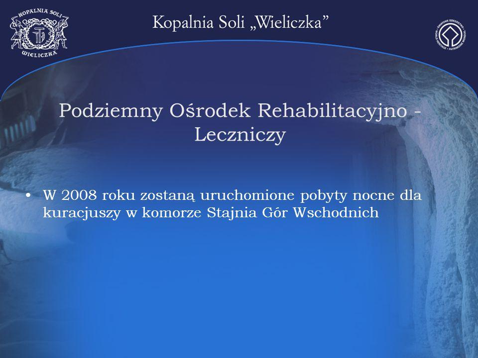 Podziemny Ośrodek Rehabilitacyjno - Leczniczy W 2008 roku zostaną uruchomione pobyty nocne dla kuracjuszy w komorze Stajnia Gór Wschodnich