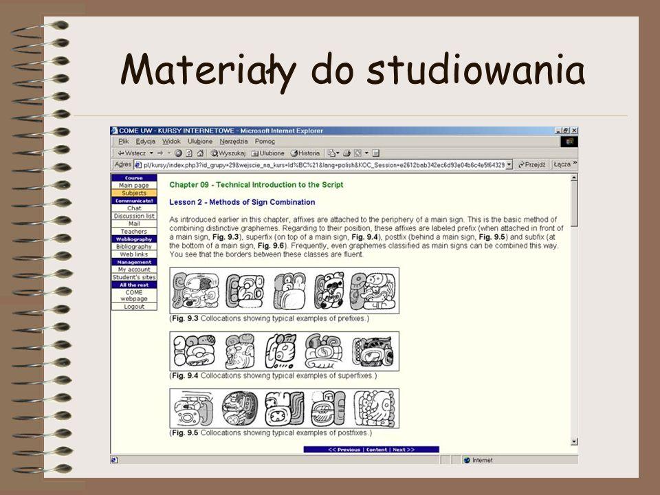 Materiały do studiowania