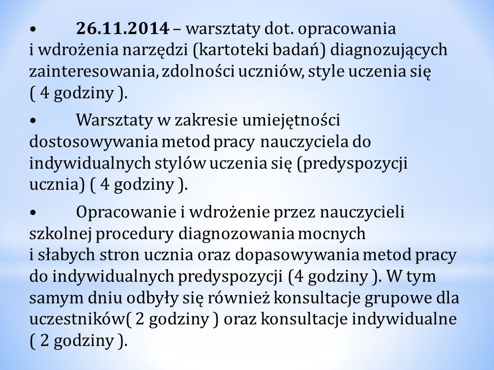 26.11.2014 – warsztaty dot.