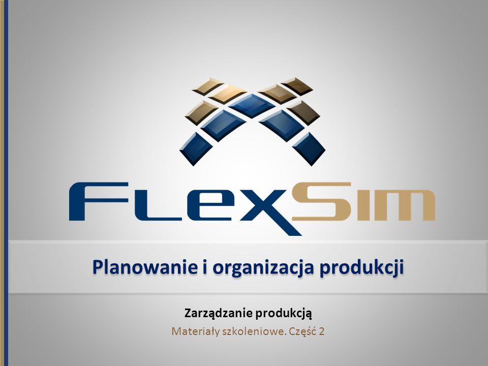 Planowanie i organizacja produkcji Zarządzanie produkcją Materiały szkoleniowe. Część 2