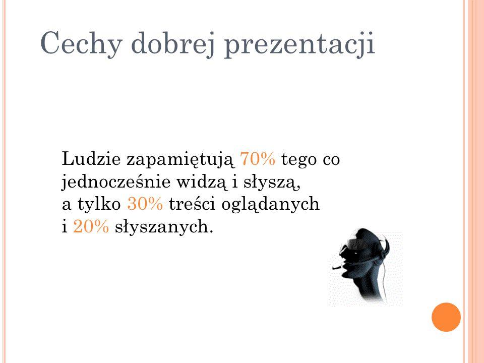 Cechy dobrej prezentacji 1.Temat prezentacji powinien być krótki i jasny. Krok 4