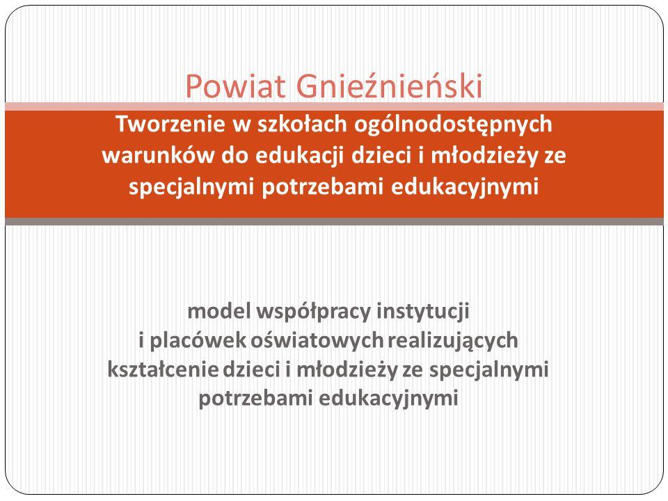 model współpracy instytucji i placówek oświatowych realizujących kształcenie dzieci i młodzieży ze specjalnymi potrzebami edukacyjnymi Powiat Gnieźnie